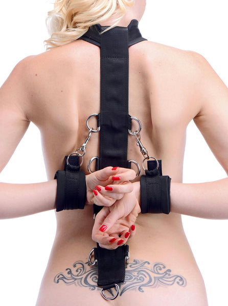 Neoprene Collar to Wrist Restraint Strap - Fun and Kinky Sex Toys
