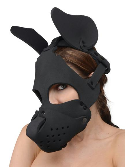 Neoprene Dog Hood with Removable Muzzle - Fun and Kinky Sex Toys