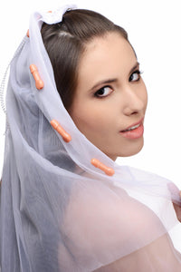 Bachelorette Party Penis Bridal Veil - Fun and Kinky Sex Toys