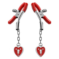 Captive Heart Padlock Nipple Clamps - Fun and Kinky Sex Toys