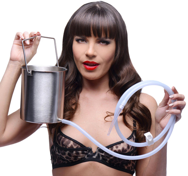 CleanStream Premium Enema Bucket Kit with Silicone Hose - Fun and Kinky Sex Toys