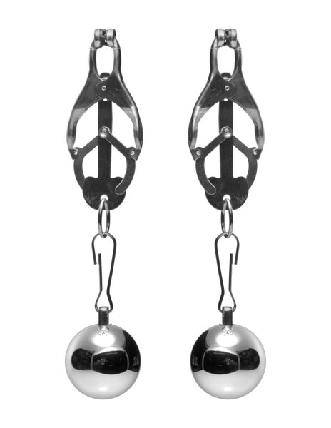 Deviant Monarch Weighted Nipple Clamps - Fun and Kinky Sex Toys