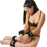 Fur Lined Leather Bondage Essentials Kit - Fun and Kinky Sex Toys
