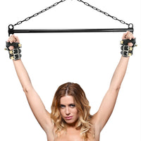 Heavy Duty Suspension Cuff Kit with Steel Bar - Fun and Kinky Sex Toys