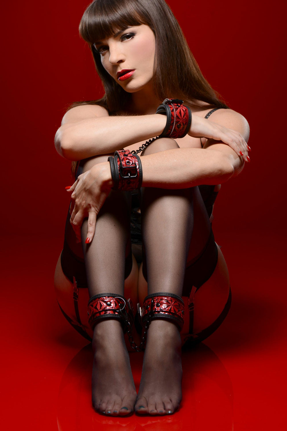 Crimson Tied Wrist and Ankle Bondage Kit - Fun and Kinky Sex Toys