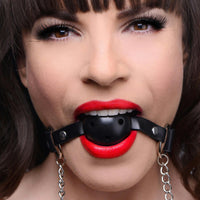 Breathable Ball Gag with Nipple Clamps - Fun and Kinky Sex Toys