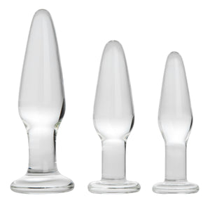 Dosha 3 Piece Glass Anal Plug Kit - Fun and Kinky Sex Toys
