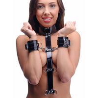 Bound Around Neck to Wrist Restraints - Fun and Kinky Sex Toys