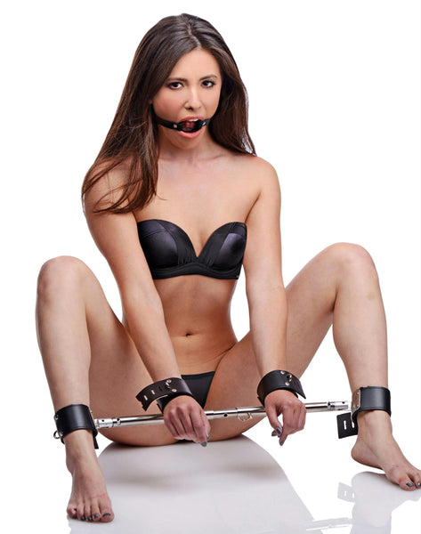 Unrestricted Access Spreader Bar Kit with Ring Gag - Fun and Kinky Sex Toys