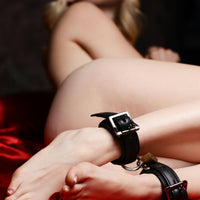 Strict Leather Luxury Locking Wrist Cuffs - Fun and Kinky Sex Toys