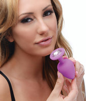 Purple Pleasure 3 Piece Silicone Anal Plugs with Gems - Fun and Kinky Sex Toys