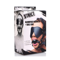 Blindfold Harness and Ball Gag - Fun and Kinky Sex Toys