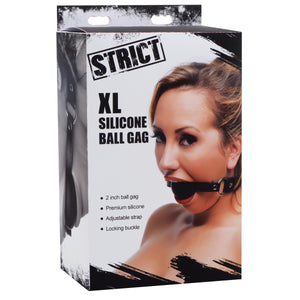 XL 2 Inch Silicone Ball Gag - Fun and Kinky Sex Toys