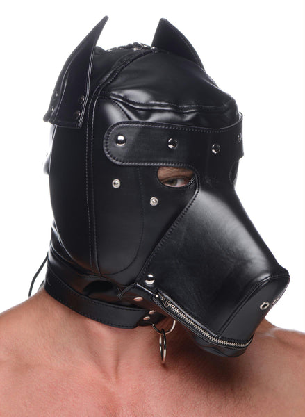 Muzzled Universal BDSM Hood with Removable Muzzle - Fun and Kinky Sex Toys