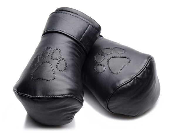 Strict Leather Padded Puppy Mitts - Fun and Kinky Sex Toys