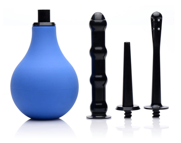 Premium One-way Valve Anal Douche Set - Fun and Kinky Sex Toys