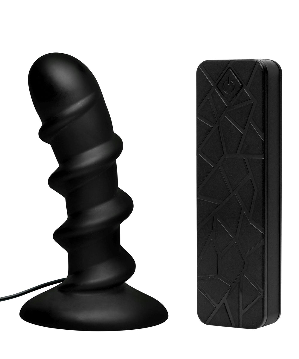 Ascend Silicone Swirl P-Spot Stimulator with Remote - Fun and Kinky Sex Toys