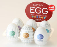 Easy Beat Egg Hard Boiled Masturbator Six Pack - Fun and Kinky Sex Toys