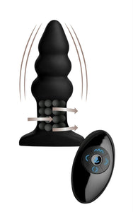 Rimmers Model I Rippled Rimming Plug with Remote - Fun and Kinky Sex Toys