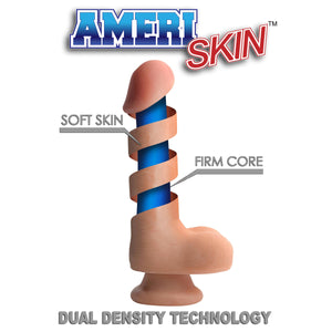 8 Inch Ultra Real Dual Layer Suction Cup Dildo - Fun and Kinky Sex Toys
