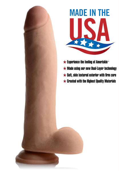 11 Inch Ultra Real Dual Layer Suction Cup Dildo - Fun and Kinky Sex Toys