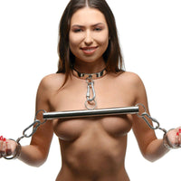 Stainless Steel Yoke with Collar and Cuffs - Fun and Kinky Sex Toys