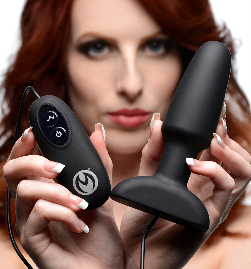 Popper Plug 7x Rechargeable Vibrating Silicone Anal Plug - Fun and Kinky Sex Toys