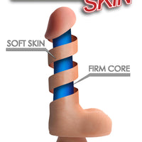 9 Inch Ultra Real Dual Layer Suction Cup Dildo- Dark Skin Tone - Fun and Kinky Sex Toys