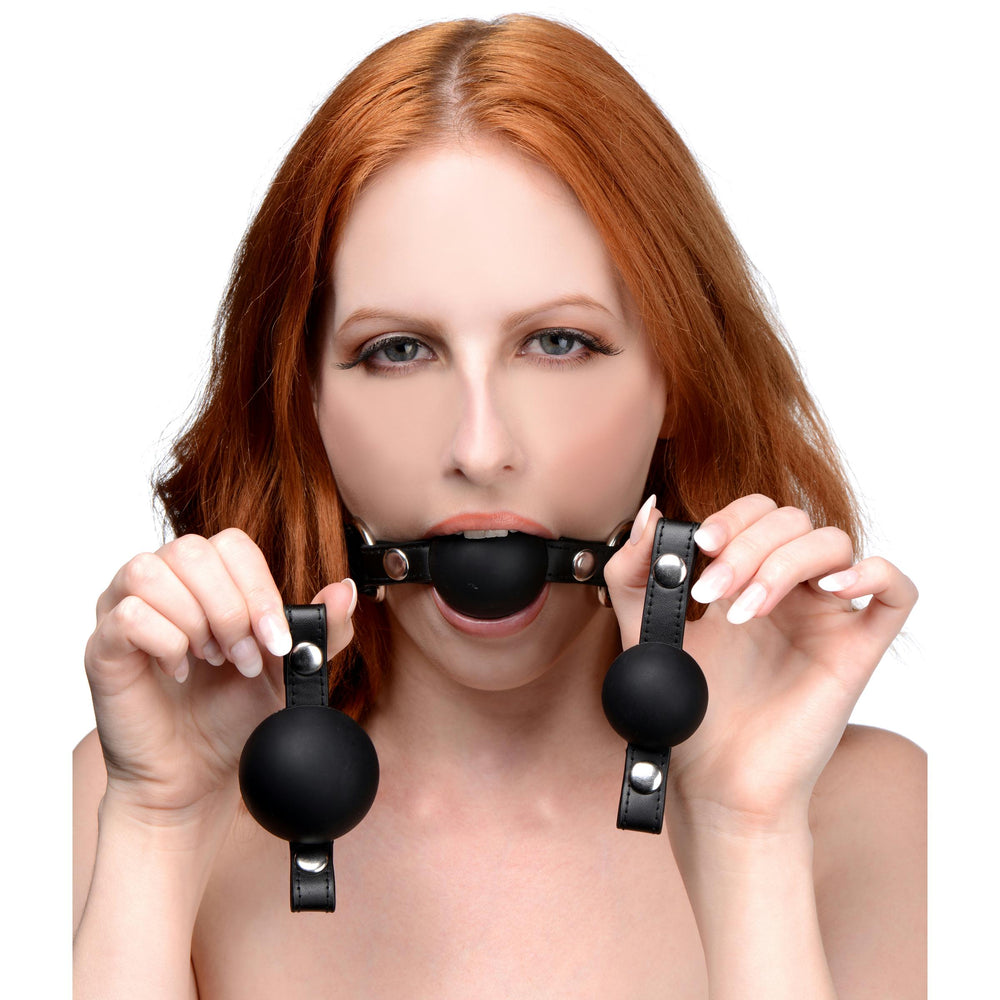 Interchangeable Silicone Ball Gag Set - Fun and Kinky Sex Toys