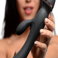 Shegasm Supreme 3 in 1 Silicone Suction Rabbit Vibe - Fun and Kinky Sex Toys