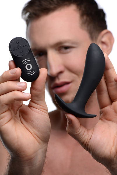 Silicone Prostate Vibrator with Remote Control - Fun and Kinky Sex Toys