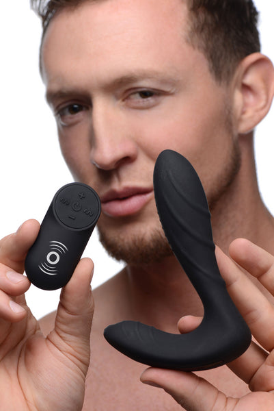 Textured Silicone Prostate Vibrator with Remote Control - Fun and Kinky Sex Toys
