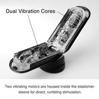 Flip 0-Zero Electronic Vibration Stroker- Black - Fun and Kinky Sex Toys