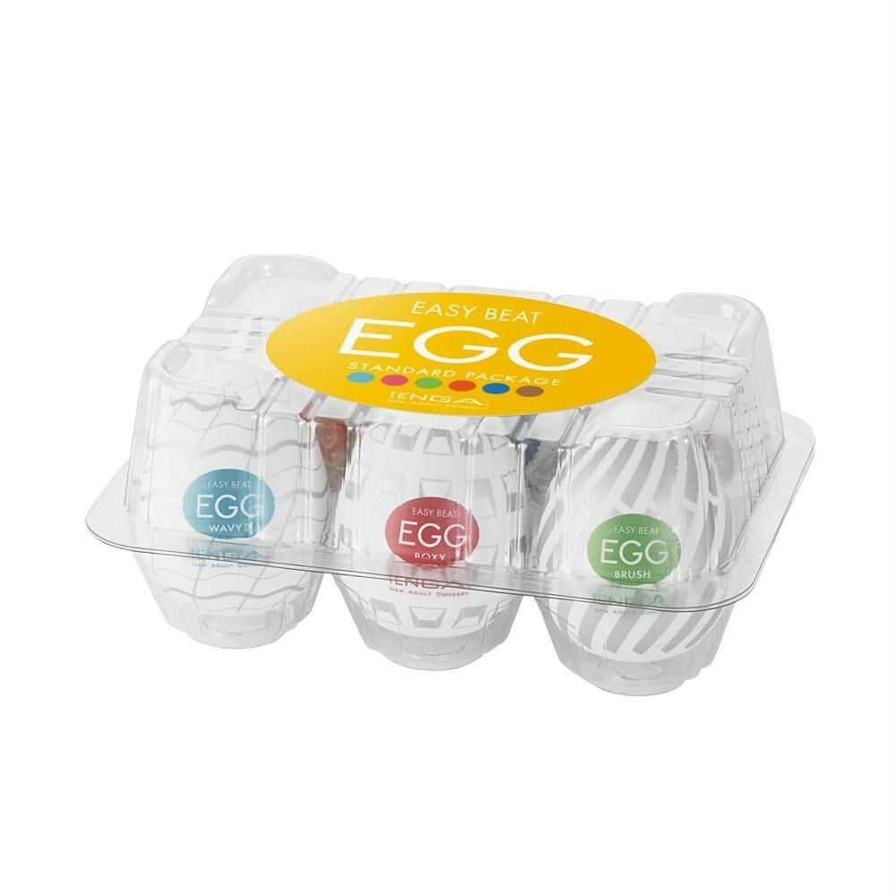 Easy Beat Egg New Standard Masturbator Six Pack - Fun and Kinky Sex Toys