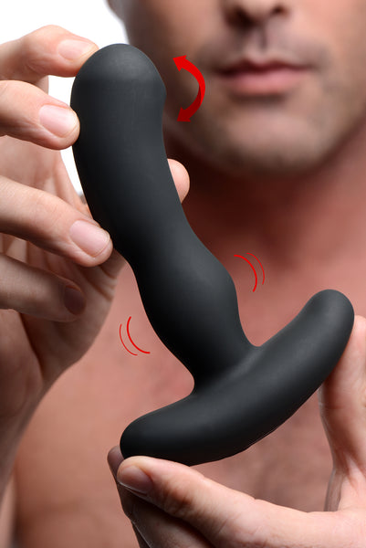 Pro-Digger 7X Silicone Stimulating Beaded P-Spot Vibe - Fun and Kinky Sex Toys