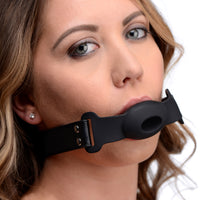 Hollow Silicone Gag - Fun and Kinky Sex Toys