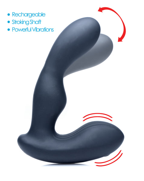 7X P-Stroke Silicone Prostate Stimulator with Stroking Shaft - Fun and Kinky Sex Toys