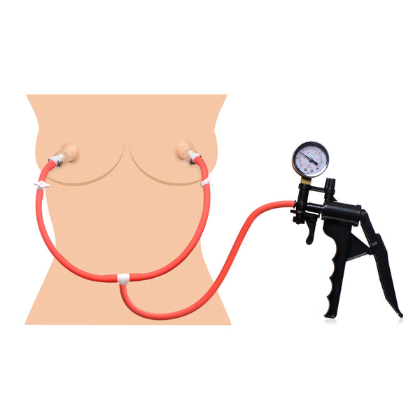 Double Suck Nipple Pump System - Fun and Kinky Sex Toys