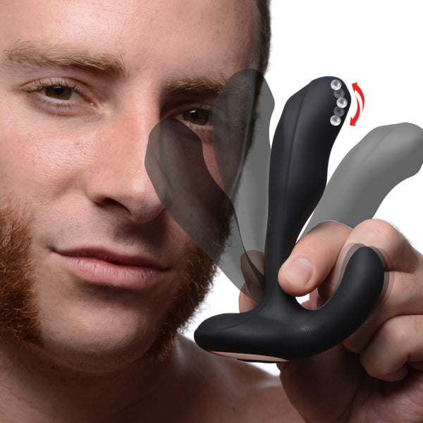 7X Bendable Prostate Stimulator with Stroking Bead - Fun and Kinky Sex Toys