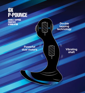 6X P-Pounce Double Tapping Prostate Stimulator - Fun and Kinky Sex Toys