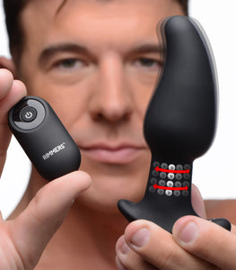Gyro-M 10X Curved Rimming Plug with Remote Control - Fun and Kinky Sex Toys