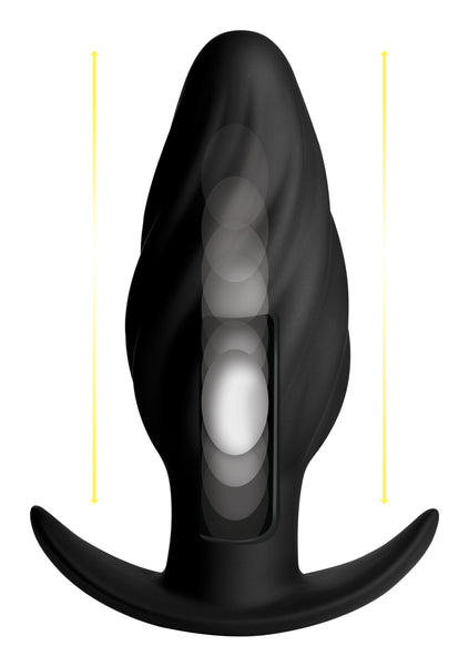 Kinetic Thumping 7X Swirled Anal Plug - Fun and Kinky Sex Toys
