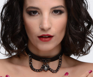 Gothic Heart Chain Choker - Fun and Kinky Sex Toys