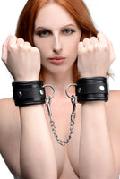 Isabella Sinclaire Premium Leather Wrist Cuffs - Fun and Kinky Sex Toys