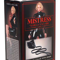 Isabella Sinclaire Leather Posture Collar with Leash - Fun and Kinky Sex Toys