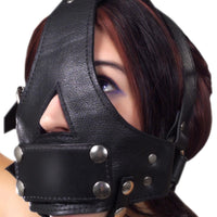 Strict Leather Bishop Head Harness with Removable Gag - Fun and Kinky Sex Toys