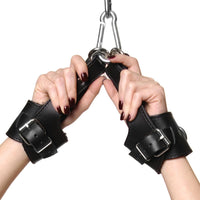 Strict Leather Fleece Lined Suspension Cuffs - Fun and Kinky Sex Toys