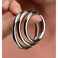 Trine Steel Ring Collection - Fun and Kinky Sex Toys