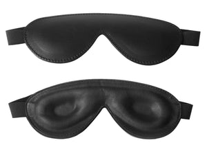 Strict Leather Padded Blindfold - Fun and Kinky Sex Toys