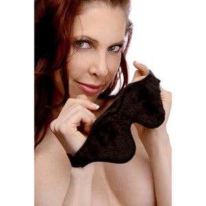 Strict Leather Black Fleece Lined Blindfold - Fun and Kinky Sex Toys
